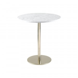 Helsinki Stool Table with Carrara Marble top