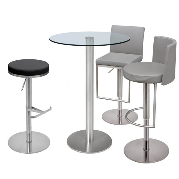 Helsinki 70cm Stool Table with Glass Top-60616