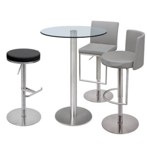 Helsinki Bar Table pictured with glass top