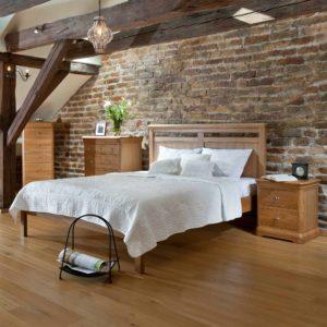 Olivia Oak Large 2 Drawer Bedside-47214
