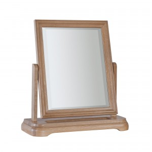 Olivia Oak Dressing Table Mirror-0