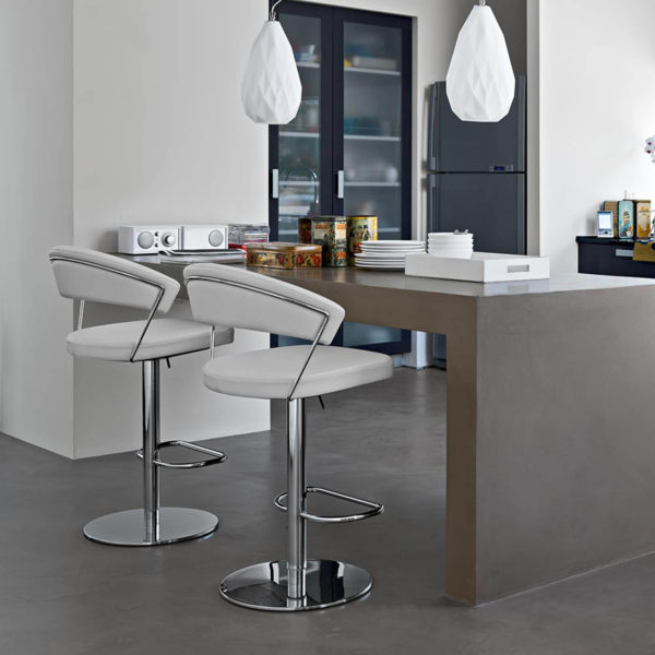 Calligaris CB/1088-LH New York Bar Stool in real leather-47382