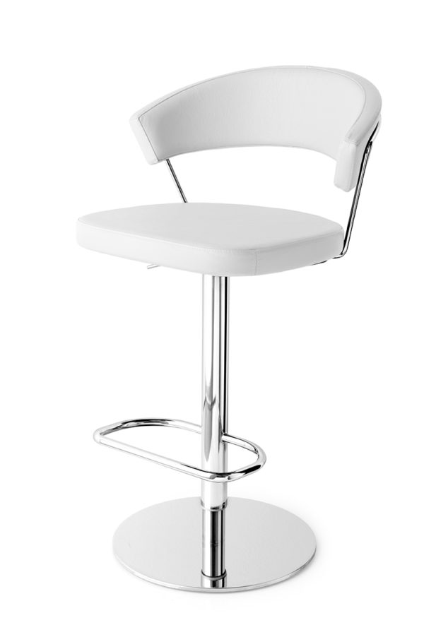 Calligaris CB/1088-LH New York Bar Stool in real leather-54716