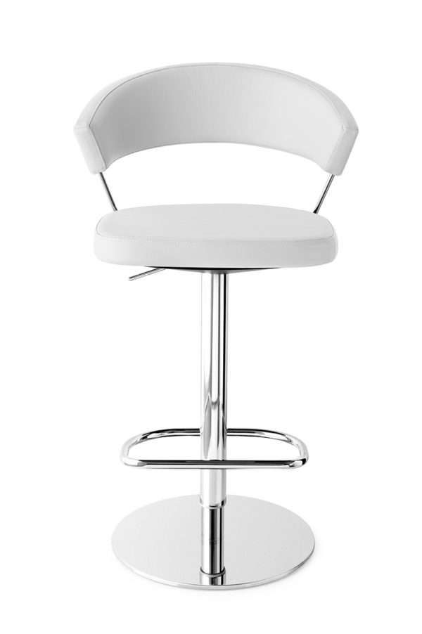 Calligaris CB/1088-LH New York Bar Stool in real leather-54718