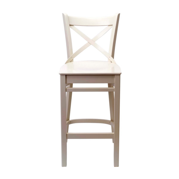 Rivoli Bar Stool in Off White painted finish