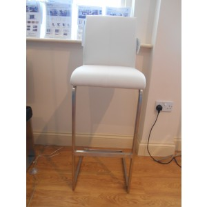 Showroom Clearance: Derby X57 Bar Stool in White Artificial Leather-0