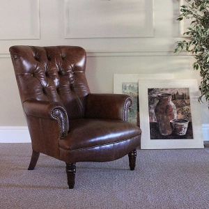 Tetrad Harris Calvay Chair in leather