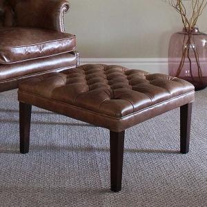 Tetrad Harris Mackenzie Footstool in leather