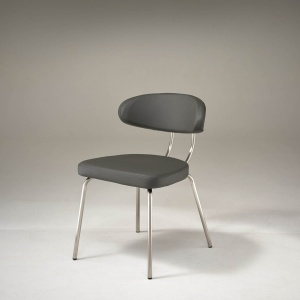 Margot Dining Chair in Grey angled