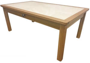 Anbercraft Beaumont Anbercraft Beaumont BMT06D Large Coffee Table with Tile TopLarge Coffee Table with oyster top