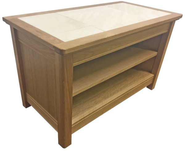Anbercraft Beaumont Small TV Unit with tile top