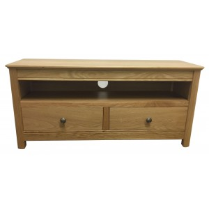 Anbercraft Beaumont Large TV Unit with oak top