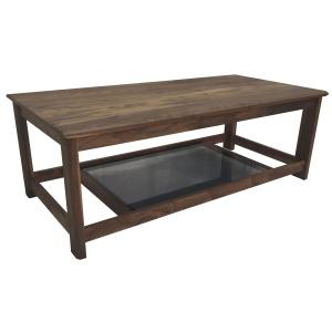 Anbercraft Kudos Coffee Table with smoked glass bottom inlay