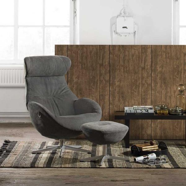 Globe Crossfoot Swivel Chair & Footstool