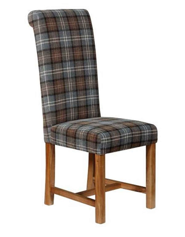 Roll Back Chair in fabric