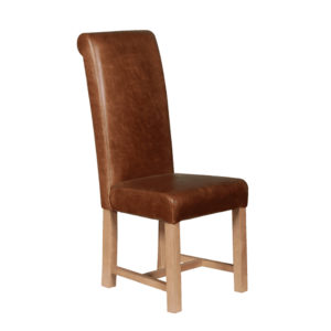 Roll Back Chair in leather