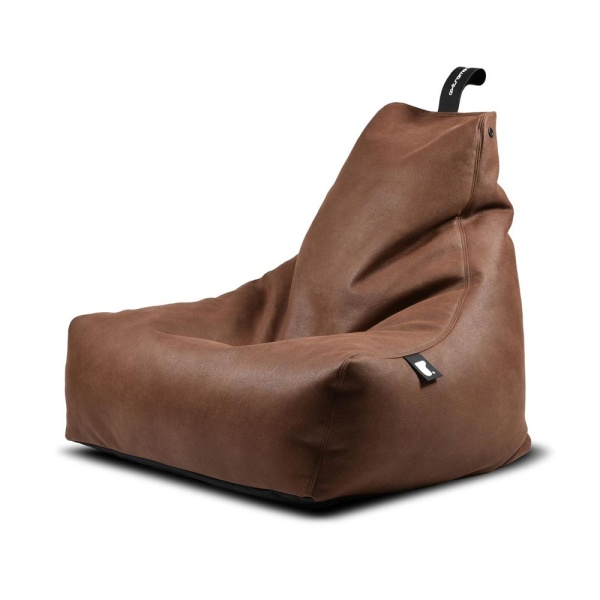 Mighty B Luxury Bean Bag in chestnut