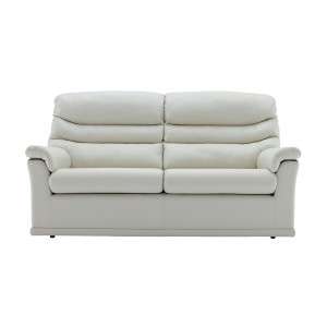 G Plan Malvern Leather 3 Seater Sofa with 2 seat cushions