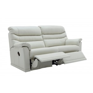 G Plan Malvern Leather 3 Seater Double Recliner Sofa with 2 seat cushions