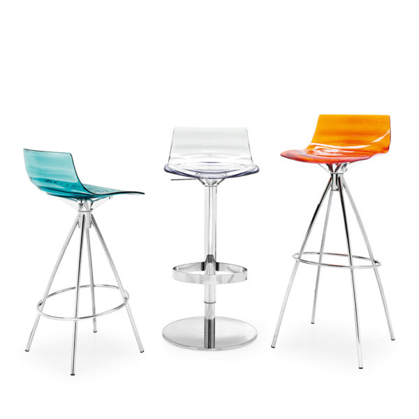 Calligarsi L'Eau Bar Stools with different bases