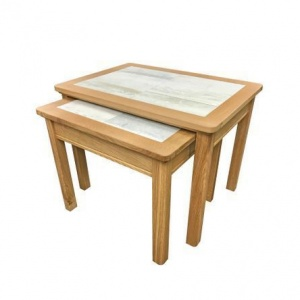 Anbercraft Beaumont Nest of 2 Tables with Dover Tile Top