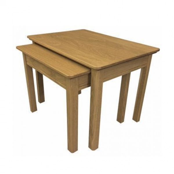 Anbercraft Beaumont Nest of 2 Tables with solid top
