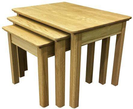 Anbercraft Beaumont Nest of 3 Tables all in oak