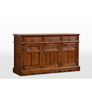 Old Charm 3 Drawer Sideboard