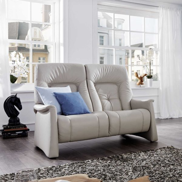 Himolla Themse 2 Seater Manual Recliner Sofa in leather-0