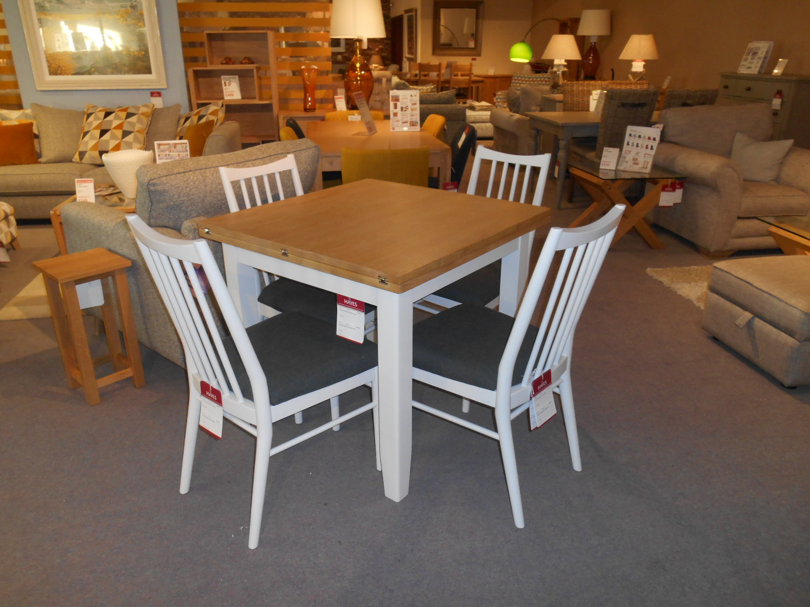 Picture of: Showroom Clearance Grasmere 85cm Flip Top Table 4 Chairs Tr Hayes Furniture Bath