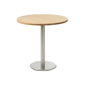 Skipton round solid oak dining table with round base