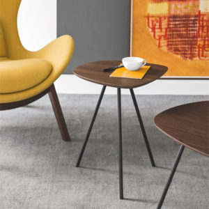 Calligaris Tweet Side Table in wood finish
