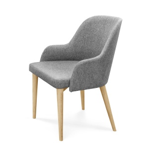 Domino Oak Dining Chair with Arms