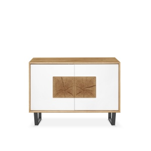 Domino Oak Small 2 Door Sideboard with metal legs