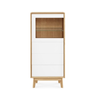 Domino Oak 210 Display Cabinet