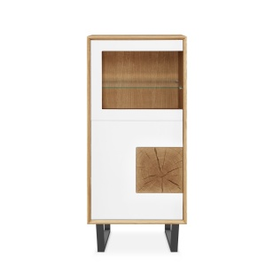 Domino Oak 211 Display Cabinet