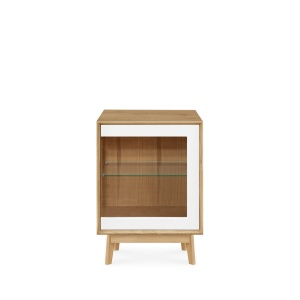 Domino Oak 226 Sideboard with Glass Door