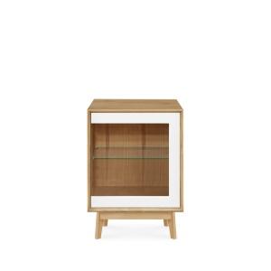 Domino Oak 226 Sideboard with Glass Door