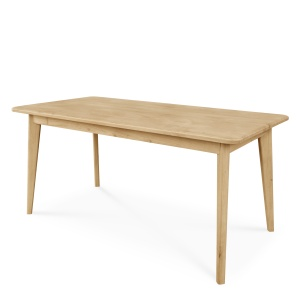 Domino Oak Dining Table with wooden legs