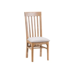 Nantes Oak Slat Back Chair with fabric seat