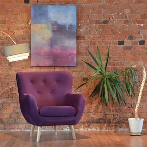 Jasper High Back Chair in Plush Velvet