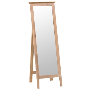 Nantes Oak Cheval Mirror