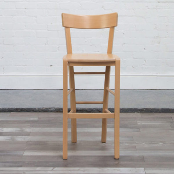 Vincennes Bar Stool in natural beech