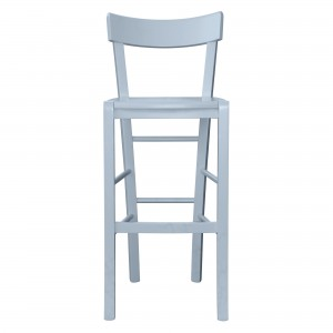 Vincennes Bar Stool in blue grey finish