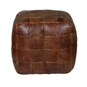 Cube Leather Bean Bag