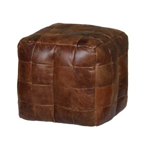 Cube Leather Bean Bag
