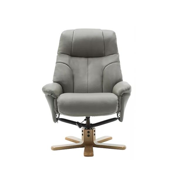 Dante Swivel Recliner Chair in Plush Grey