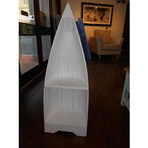 Showroom Clearance: White Small Boat Bookcase-0