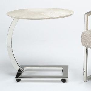 Stone International Swan Oval Table