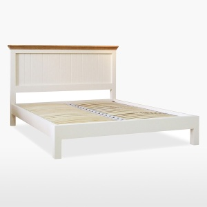 Cello Oak/Painted Bedframe with Low Foot End